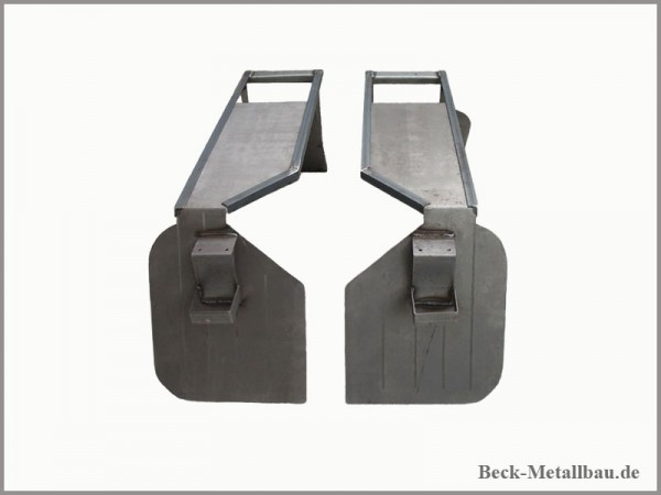 Hintere Kotflügel Unimog 403/406/U1000 Forst Unbehandelt